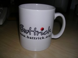 Front of the BT mug